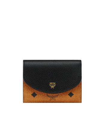 MCM Corina dreifach gefaltete Brieftasche in Visetos Colorblock Leder Alternate View