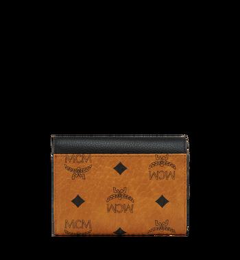 MCM Corina dreifach gefaltete Brieftasche in Visetos Colorblock Leder Alternate View 2
