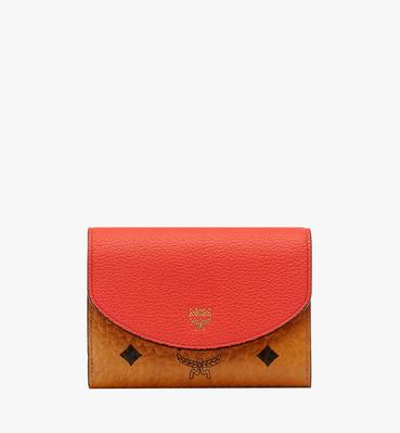 Three Fold Wallet in Visetos Colorblock Leather