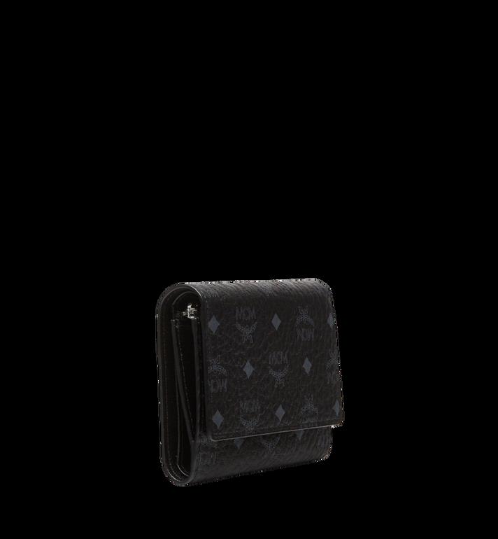 MCM Dreifach gefaltete Brieftasche aus Visetos Original Black MYS8SVI83BK001 Alternate View 2