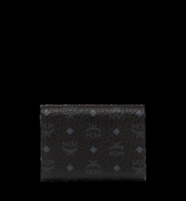 MCM Dreifach gefaltete Brieftasche aus Visetos Original Black MYS8SVI83BK001 Alternate View 3