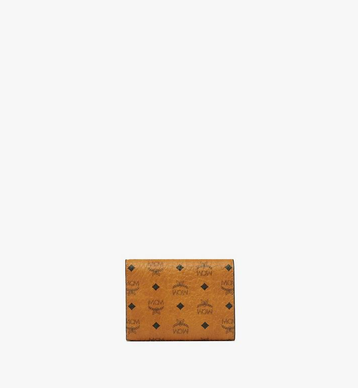 MCM Three Fold Wallet in Visetos Original Cognac MYS8SVI83CO001 Alternate View 3