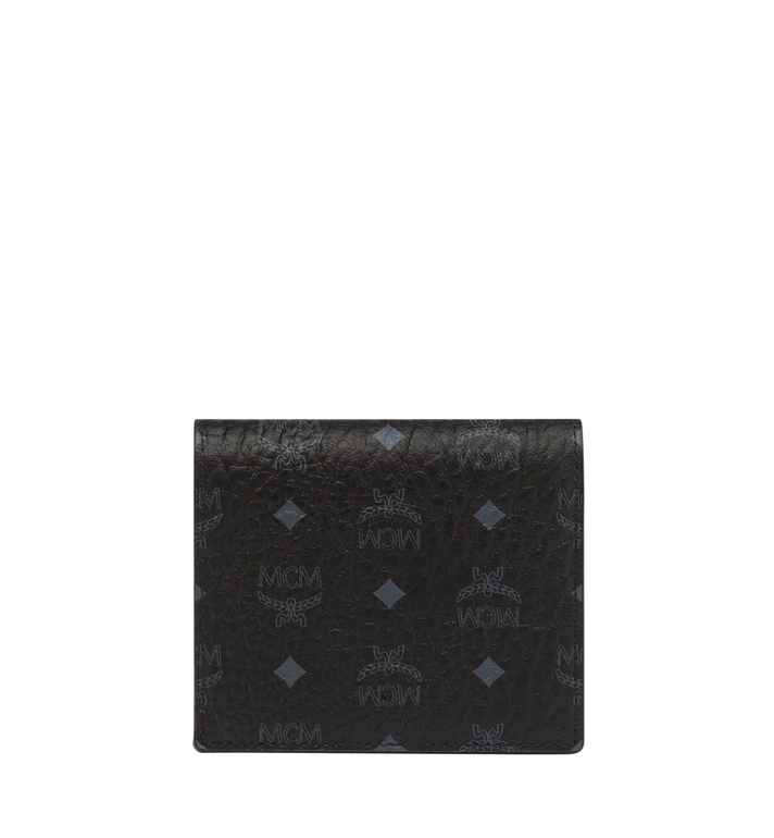 MCM Portefeuille à deux volets Color en Visetos Black MYS8SVI94BK001 Alternate View 3