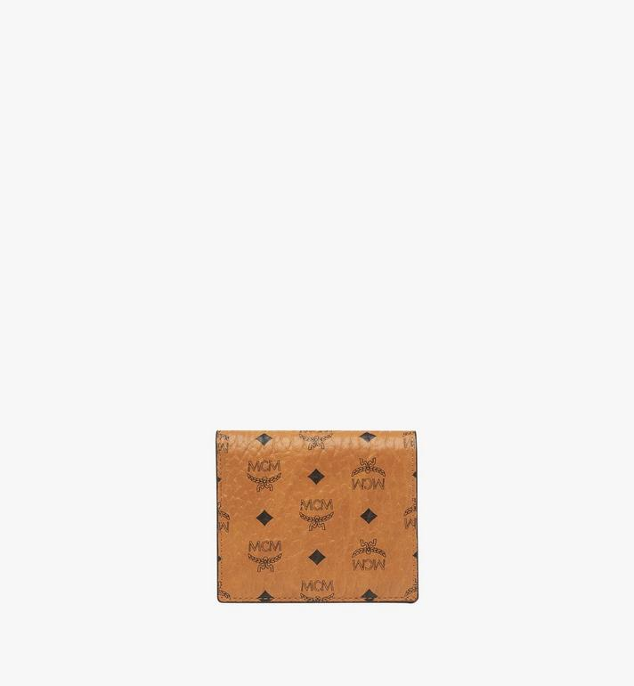 MCM Two Fold Wallet in Visetos Original Cognac MYS8SVI94CO001 Alternate View 1