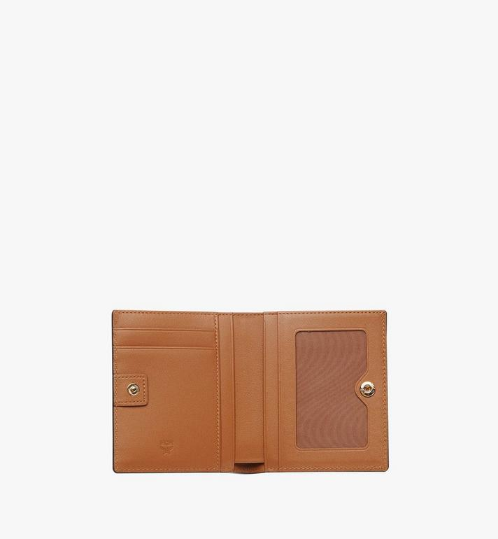 MCM Two Fold Wallet in Visetos Original Cognac MYS8SVI94CO001 Alternate View 5