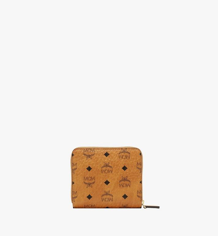 MCM Zip Wallet in Visetos Original Cognac MYS8SVI95CO001 Alternate View 3
