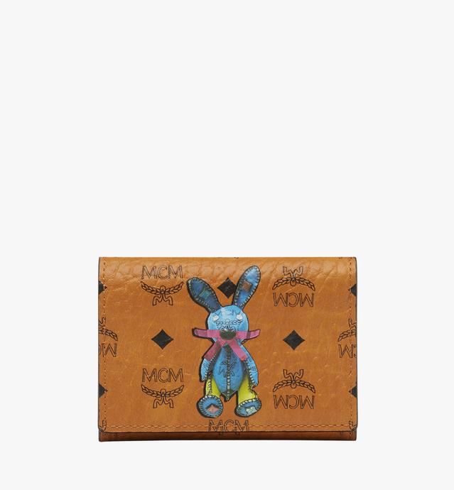 Rabbit Three Fold Coin Case in Visetos