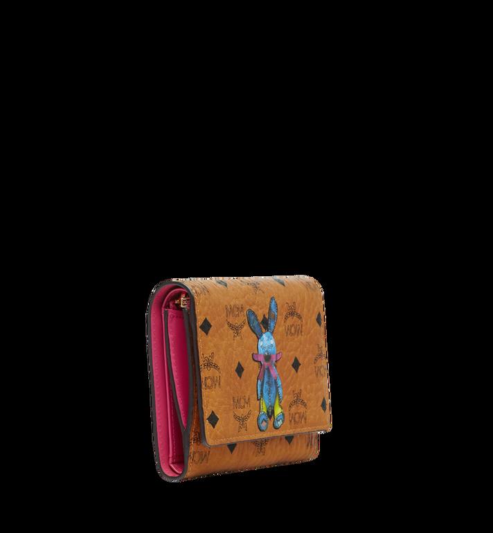 MCM Rabbit Three Fold Wallet in Visetos Cognac MYS8SXL52CO001 Alternate View 2