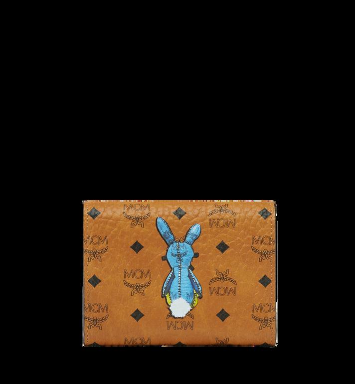 MCM Rabbit Three Fold Wallet in Visetos Cognac MYS8SXL52CO001 Alternate View 3