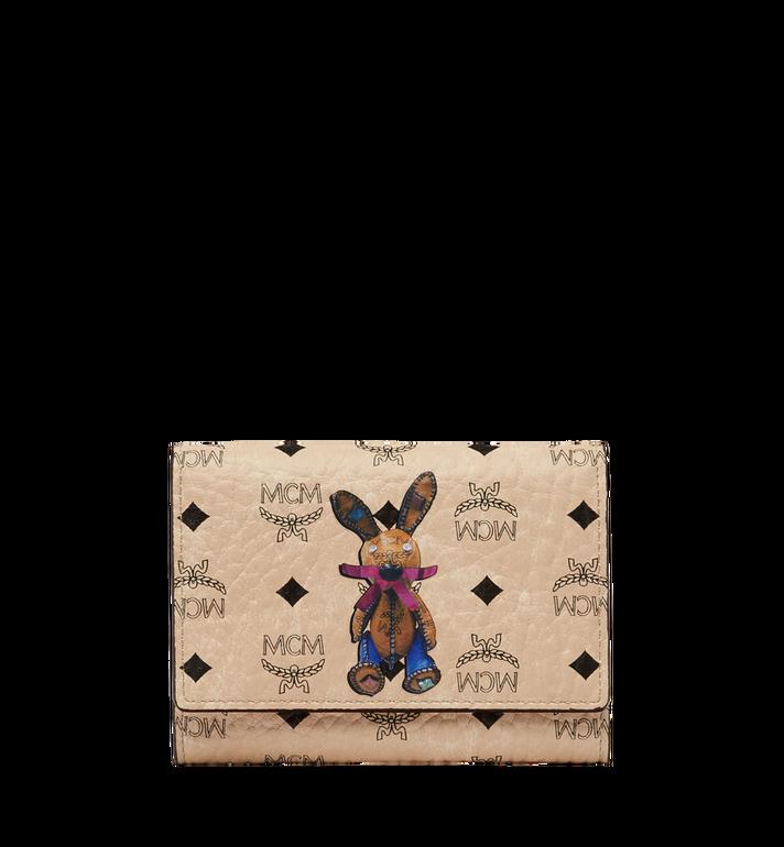 MCM Rabbit Three Fold Wallet in Visetos Alternate View