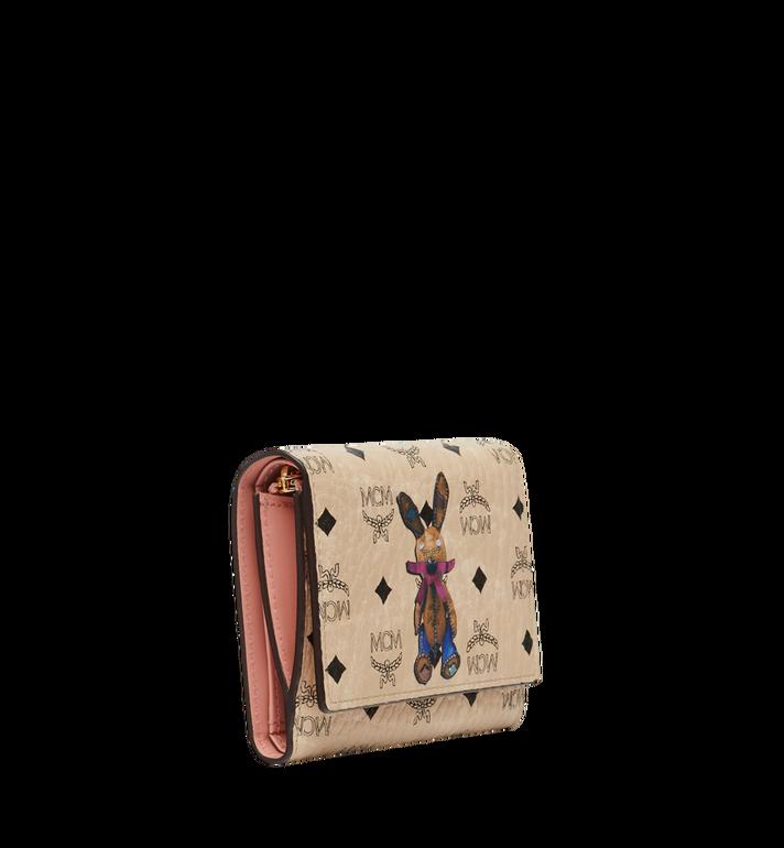 MCM Rabbit Three Fold Wallet in Visetos Beige MYS8SXL52IG001 Alternate View 2