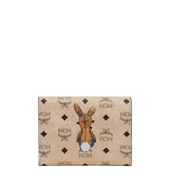 MCM Rabbit Three Fold Wallet in Visetos Beige MYS8SXL52IG001 Alternate View 3