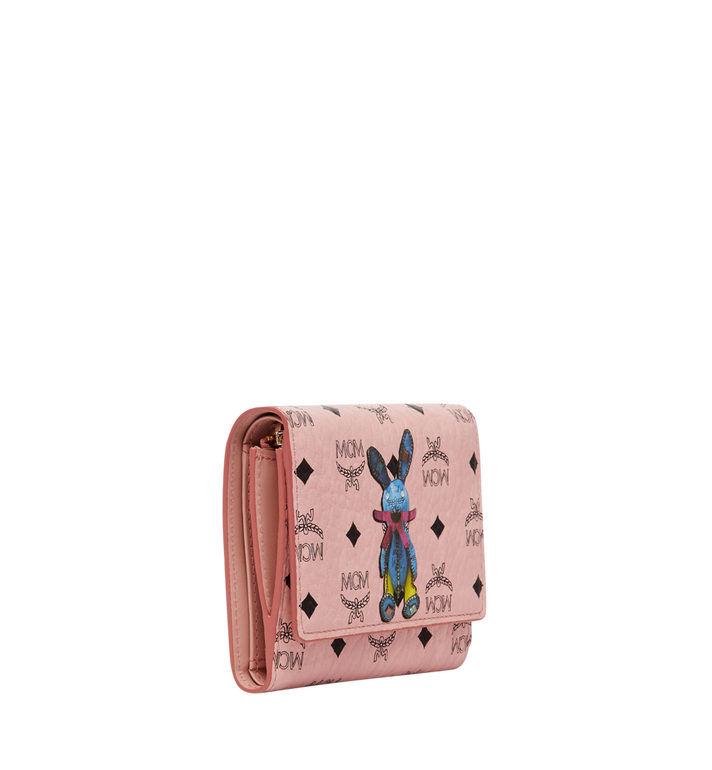 MCM Rabbit Three Fold Wallet in Visetos Pink MYS8SXL52PZ001 Alternate View 2