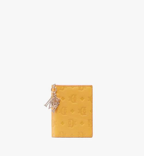 Portefeuille à deux volets Klara en cuir monogrammé