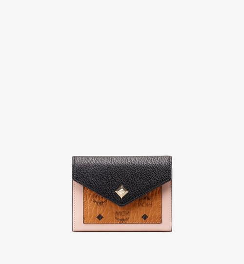 Love Letter Three-Fold Wallet in Colorblock Visetos