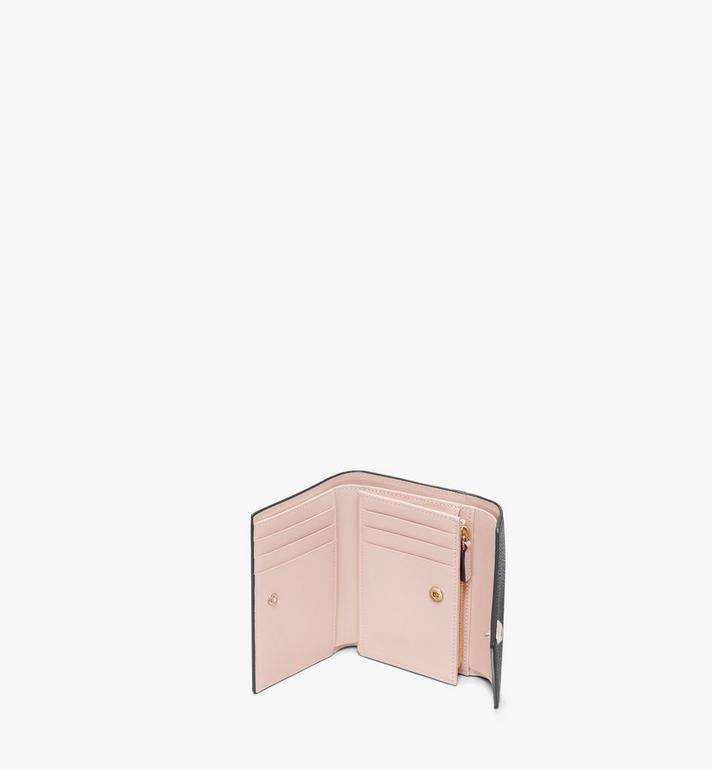 MCM Love Letter Three-Fold Wallet in Colorblock Visetos Black MYS9ALV02CB001 Alternate View 3