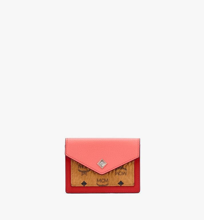 MCM Love Letter Mini Wallet in Color Block Leather Alternate View