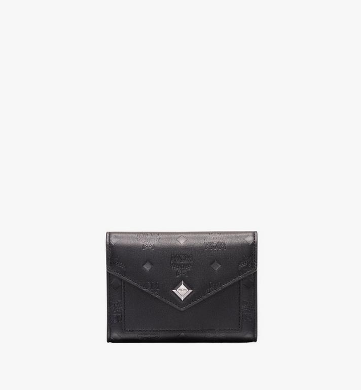 MCM Love Letter Three-Fold Wallet in Monogram Leather Alternate View 1