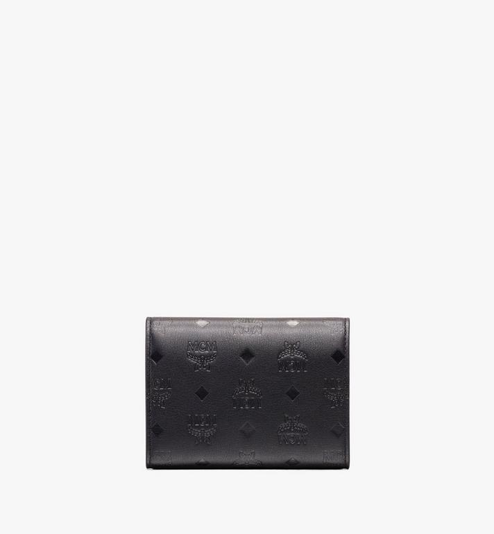 MCM Love Letter Three-Fold Wallet in Monogram Leather Black MYS9ALV12BK001 Alternate View 2