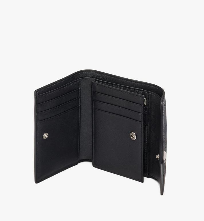 MCM Love Letter Three-Fold Wallet in Monogram Leather Black MYS9ALV12BK001 Alternate View 3