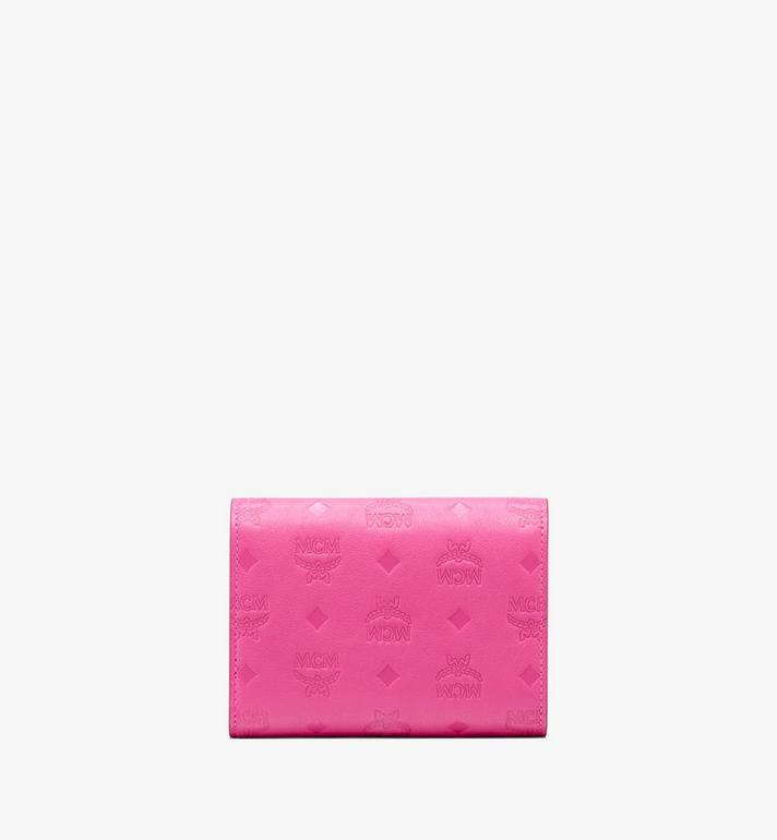 MCM Love Letter Three-Fold Wallet in Monogram Leather Pink MYS9ALV12QS001 Alternate View 2