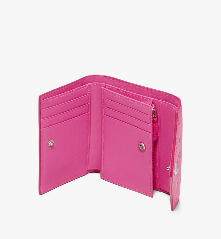 MCM Love Letter Three-Fold Wallet in Monogram Leather Pink MYS9ALV12QS001 Alternate View 3