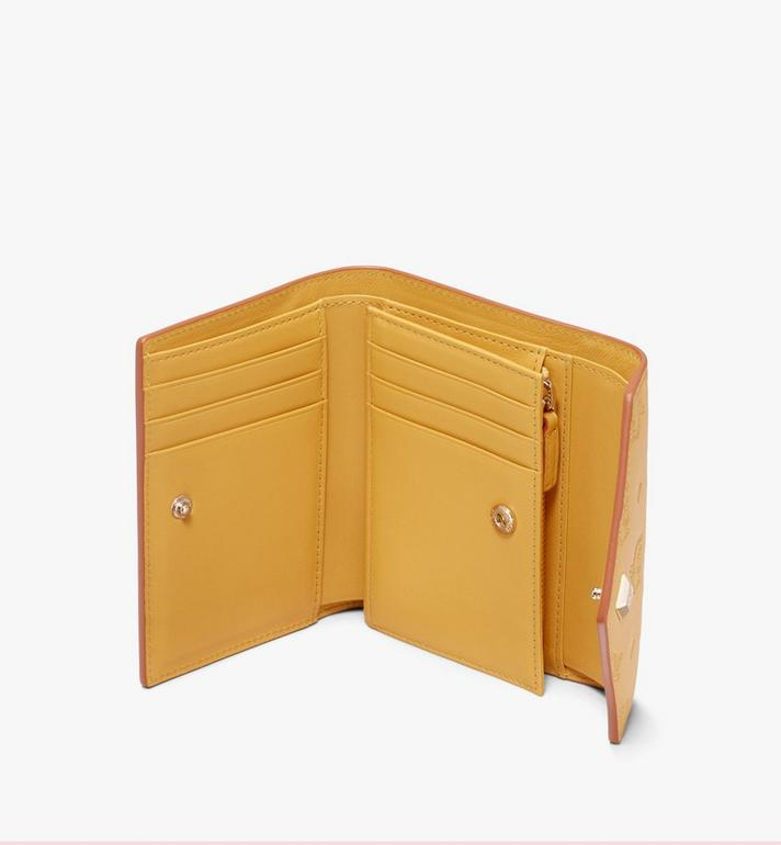 MCM Love Letter Three-Fold Wallet in Monogram Leather Yellow MYS9ALV12YJ001 Alternate View 3