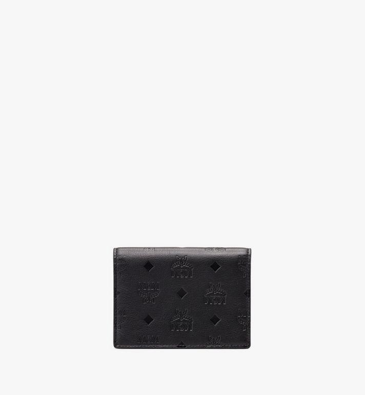 MCM Love Letter Wallet in Monogram Leather Black MYS9ALV13BK001 Alternate View 2