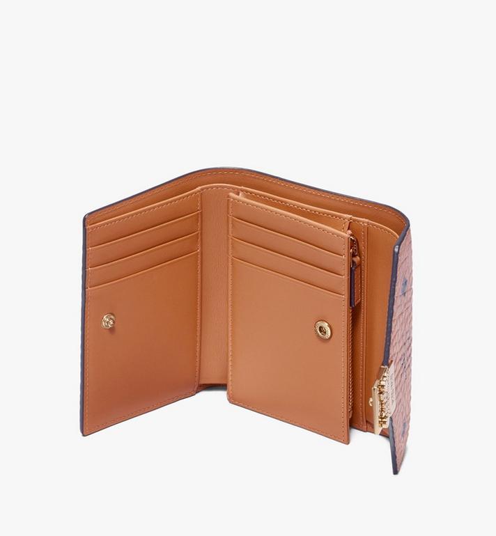 MCM Patricia Three-Fold Wallet in Visetos Cognac MYS9APA13CO001 Alternate View 3