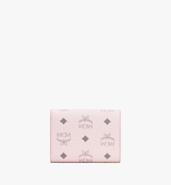 MCM Visetos 皮革 Patricia 三折錢包 Pink MYS9APA13QH001 Alternate View 2