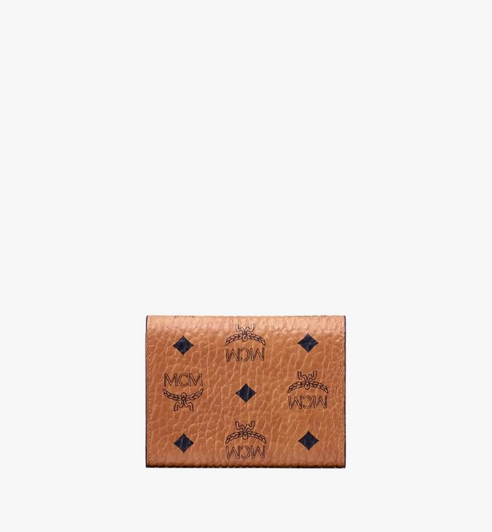 MCM Patricia Three-Fold Wallet in Studded Visetos Cognac MYS9APA31CO001 Alternate View 2