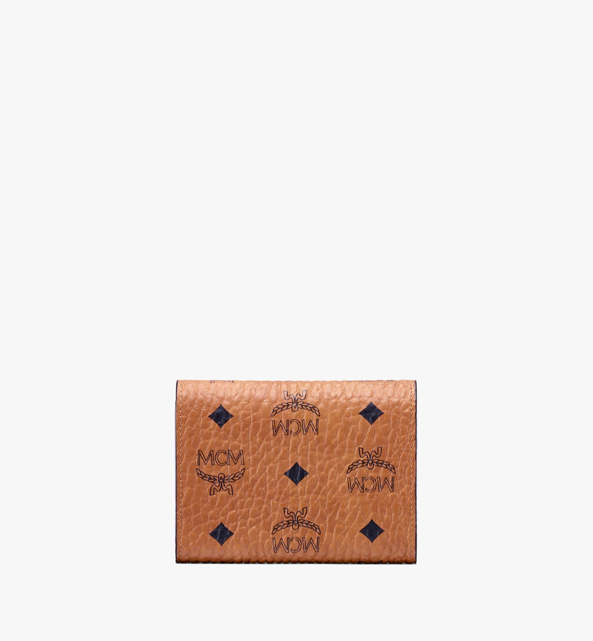 MCM Studded Visetos 系列的 Patricia 三折式錢包 Cognac MYS9APA31CO001 Alternate View 2