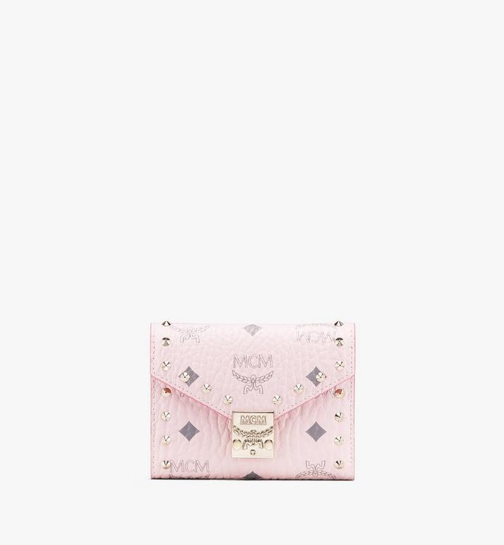 MCM Visetos 皮革的 Patricia 三折式錢包 Pink MYS9APA31QH001 Alternate View 1