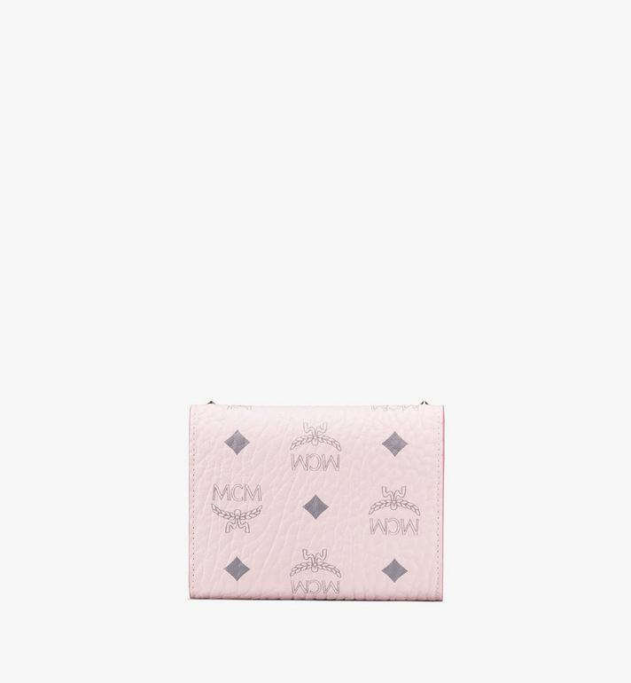 MCM Patricia Trifold Wallet in Studded Visetos Pink MYS9APA31QH001 Alternate View 2