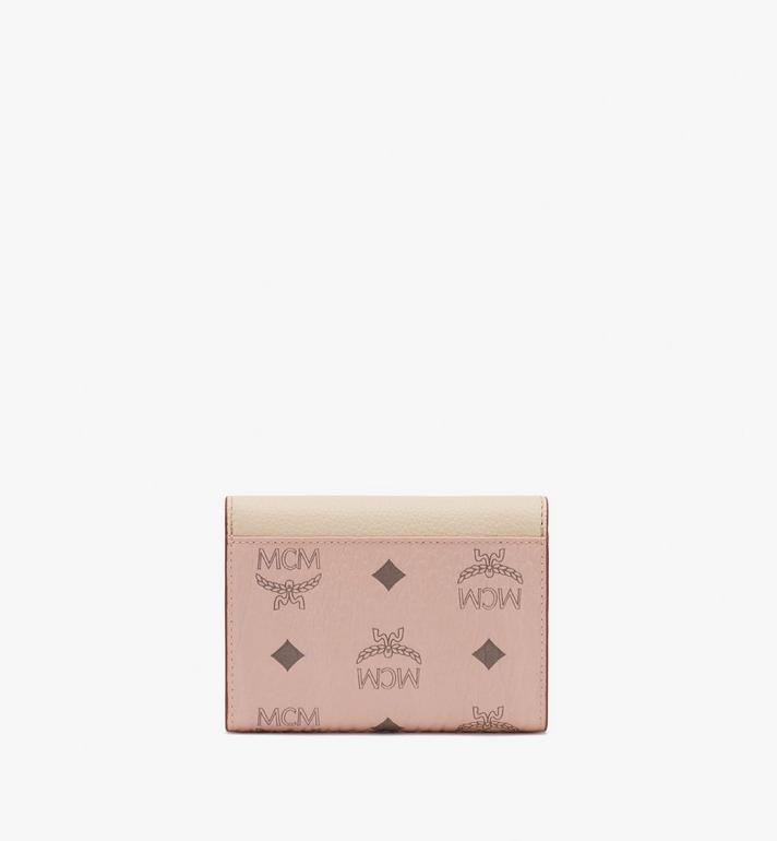 MCM Patricia Trifold Wallet in Color Block Leather Beige MYS9APA36IH001 Alternate View 2