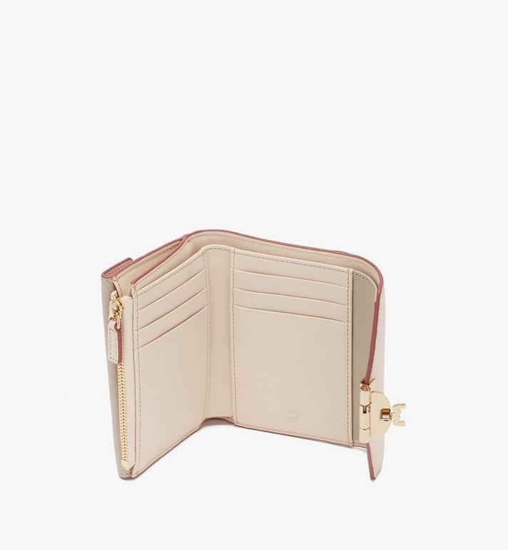 MCM Patricia Trifold Wallet in Color Block Leather Beige MYS9APA36IH001 Alternate View 3