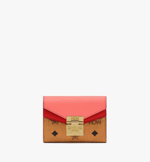 Patricia Trifold Wallet in Color Block Leather