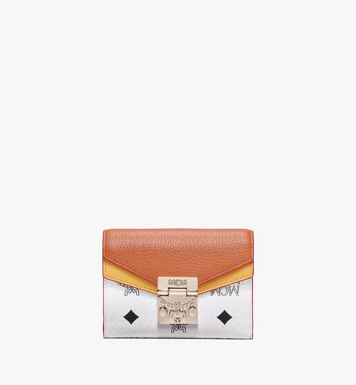 MCM Patricia Three-Fold Wallet in Colorblock Leather Alternate View
