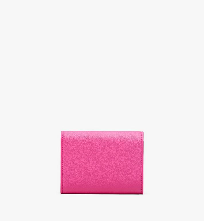 MCM Patricia Three-Fold Wallet in Park Avenue Leather Pink MYS9APA43QS001 Alternate View 2