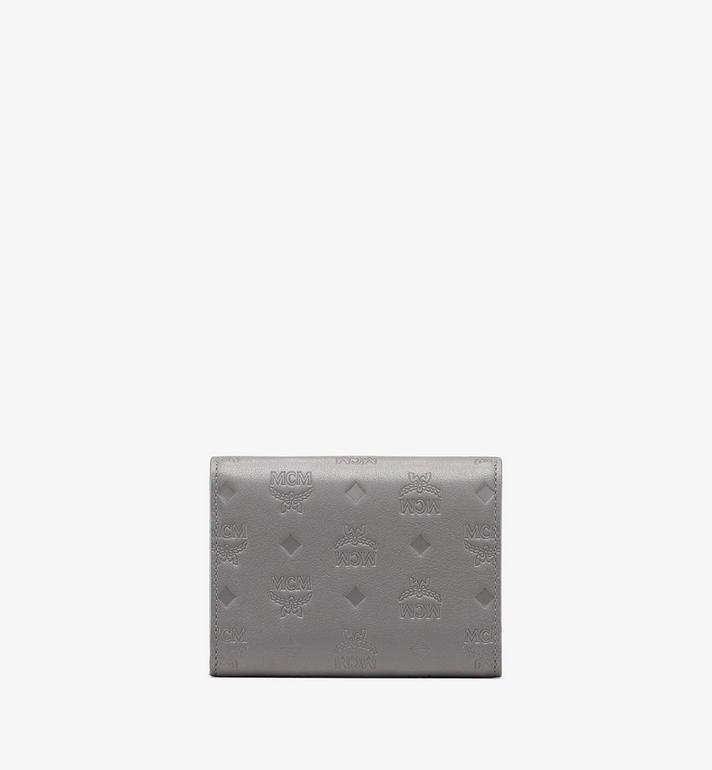MCM Patricia Three-Fold Wallet in Monogram Leather Grey MYS9APA54EC001 Alternate View 2