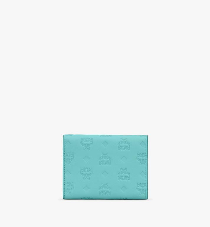 MCM Patricia Trifold Wallet in Monogram Leather Blue MYS9APA54H3001 Alternate View 2