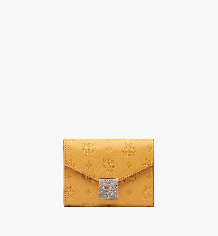 MCM Patricia dreifach gefaltete Brieftasche aus Leder mit Monogramm Alternate View