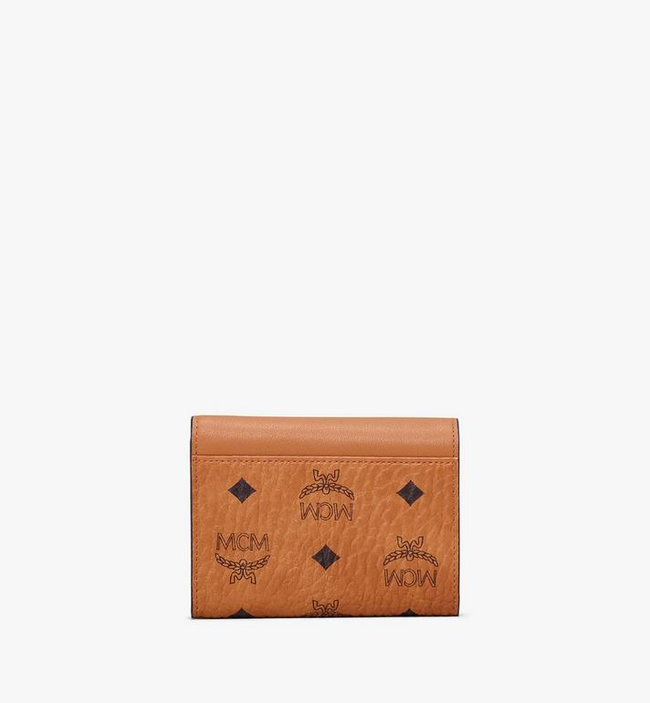 MCM Patricia Three-Fold Wallet in Love Patch Visetos Cognac MYS9APA62CO001 Alternate View 2