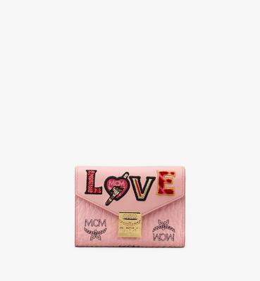 Patricia Three-Fold Wallet in Love Patch Visetos