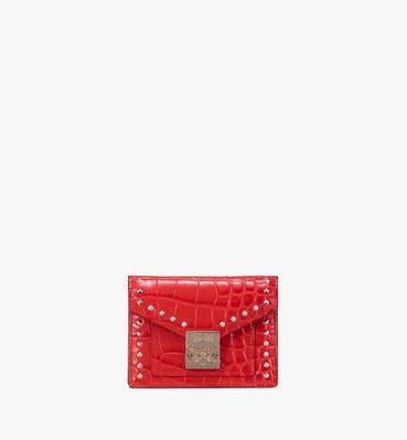 กระเป๋าสตางค์ Patricia ขนาด Mini อัดลายหนังจระเข้
