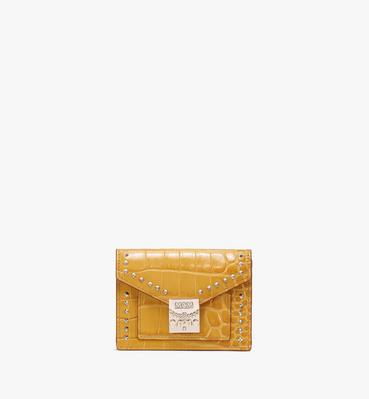 Patricia Mini Wallet in Embossed Crocodile