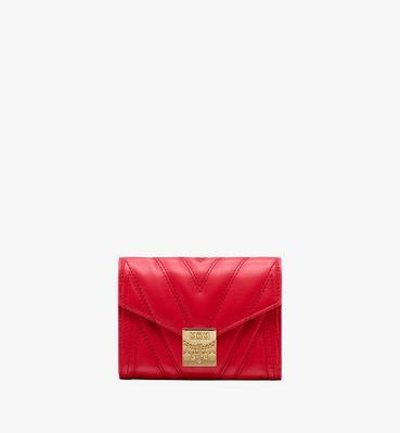 Patricia Three-Fold Wallet in Quilted Leather