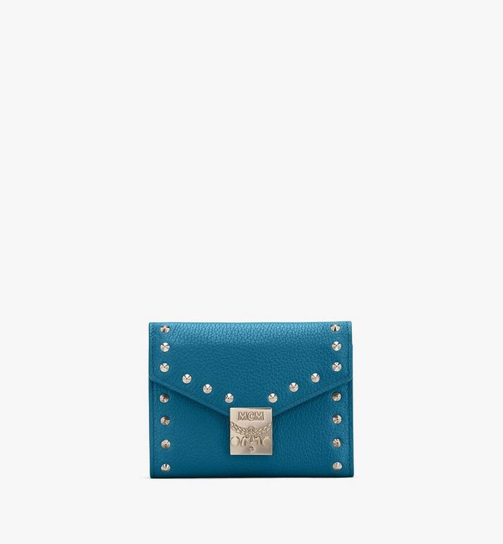 MCM Patricia 鉚釘 Park Ave 皮革三折錢包 Blue MYS9APA93JF001 Alternate View 1