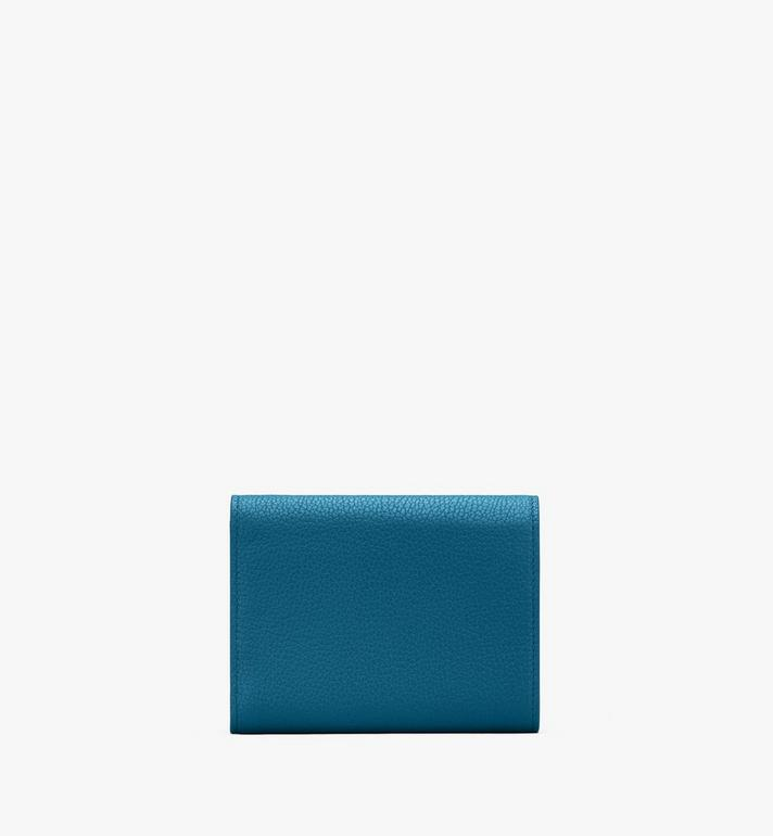 MCM Patricia Trifold Wallet in Studded Park Ave Leather Blue MYS9APA93JF001 Alternate View 2