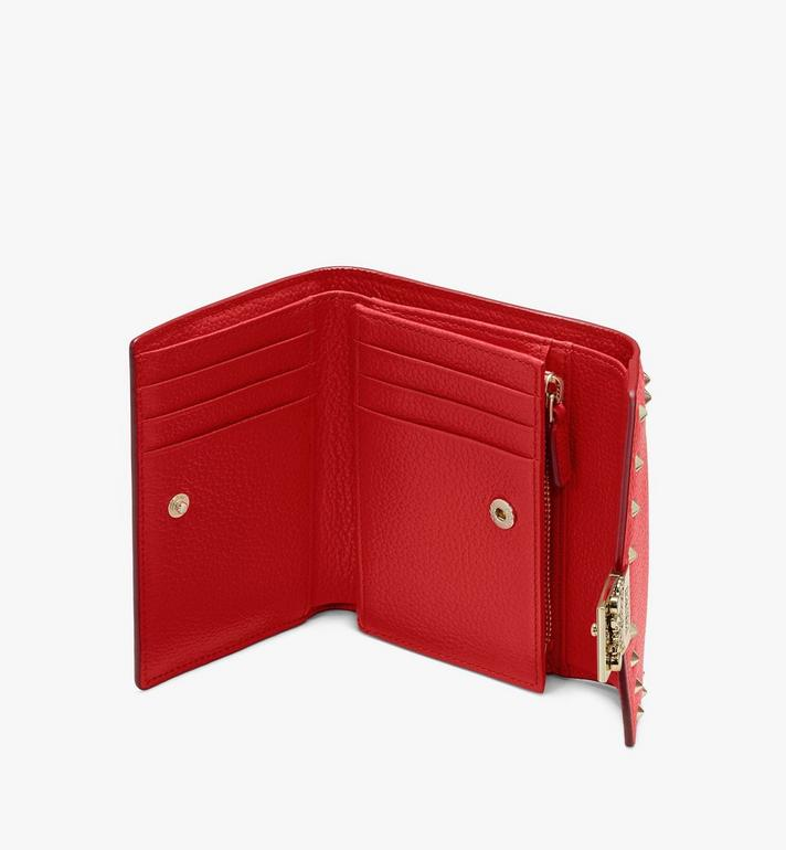 MCM Patricia Trifold Wallet in Studded Park Ave Leather Red MYS9APA93R4001 Alternate View 3